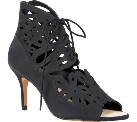 Sole Society Lasercut Leather Sandals - Juniper