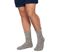 Barefoot Dreams Cozychic Heathered Men's Socks - A360510