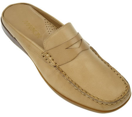 Markon Leather Moccasin Style Slip-on Comfort Mules