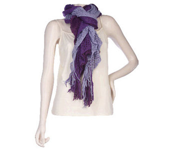 "Accessory Network 3 Tier Crochet 9"" x 100"" Scarf - A94910"