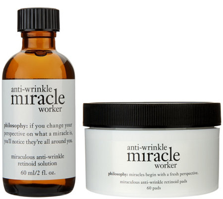 philosophy miracle worker 60ct.anti-aging retinoid pads and solution