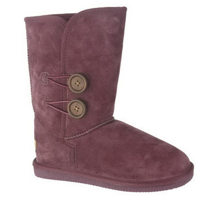 UGG Collection Conchetta Boots 1004606 Size 8.5 Wine Women's 1004606 Buckle