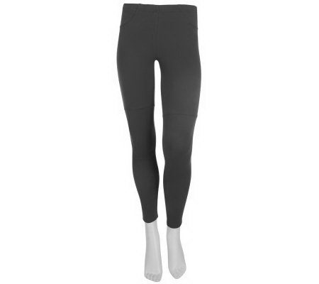 K-DASH by Kardashian Petite Ponte Knit Leggings