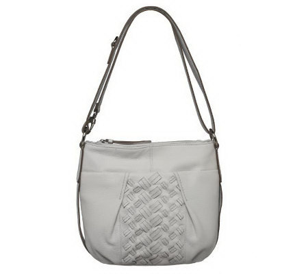 Tignanello Pebble Leather Double Entry Hobo Bag