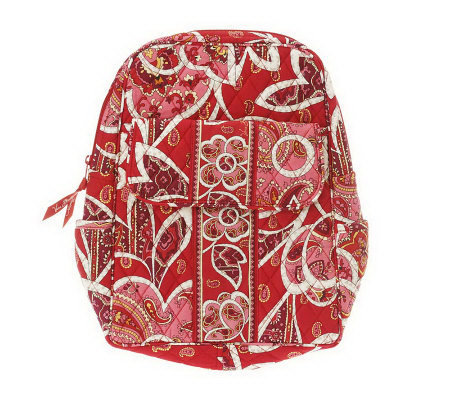 Vera Bradley Signature Print Backpack with Adjustable Straps