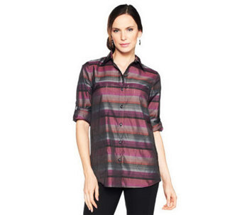 Joan Rivers Casual Luxury Boyfriend Shirt - A228511