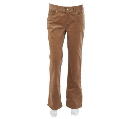 Women with Control Regular Corduroy Boot Cut Pants