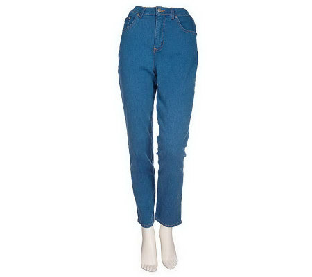 """As Is"" Denim & Co. Regular Classic Waist Five Pocket Stretch Legging"