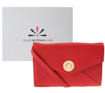 Isaac Mizrahi Live! Bridgehampton Leather Wallet On-A-String - A238611