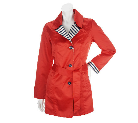 Dennis Basso Notch Collar Jacket with Striped Details