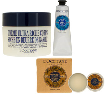 L'Occitane Shea Ultra Rich 4 piece Bath & Body Collection - A261611