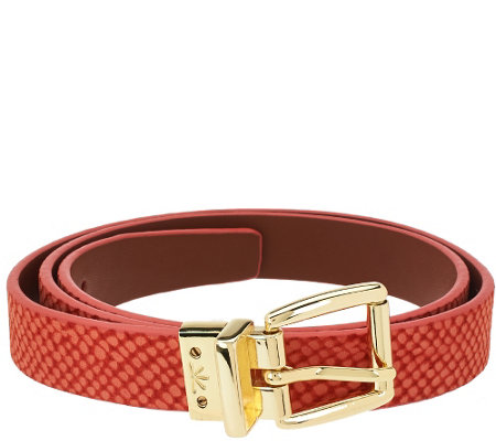 Isaac Mizrahi Live! Reversible Leather Strap Belt