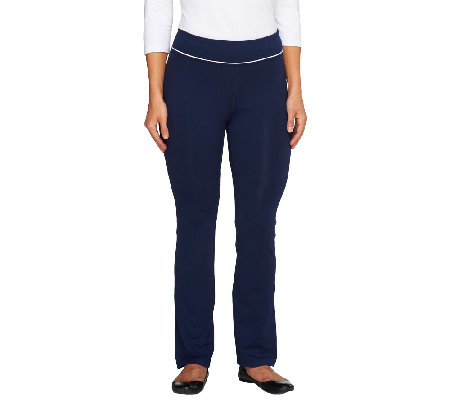 """As Is"" Denim & Co. Active Regular Duo-Stretch Yoga Pants"
