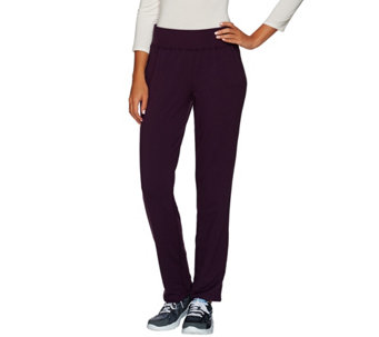 cee bee CHERYL BURKE French Terry Straight Leg Pull-on Pants - A268611