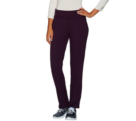 cee bee CHERYL BURKE French Terry Straight Leg Pull-on Pants
