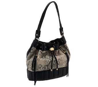 Aimee Kestenberg Pebble Leather Drawstring BucketBag-Sasha - A269111