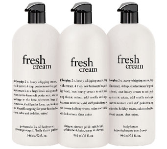 philosophy super-size fresh cream body trio - A272311