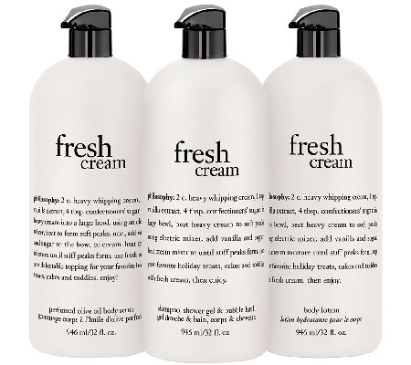 philosophy super-size fresh cream body trio