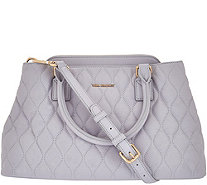 Vera Bradley Quilted Leather Satchel - Emma - A275311
