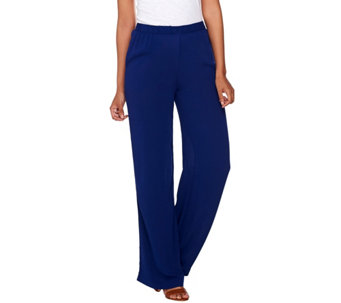 C. Wonder Petite Woven Gauze Pull-On Wide Leg Pants - A276411