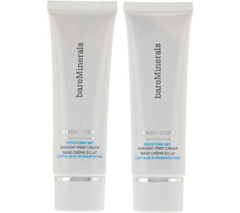 bareMinerals Prep Step Moisture Set Radiant Prep Cream Duo - A278711