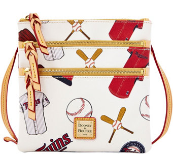 Dooney & Bourke MLB Twins Triple Zip Crossbody - A280011