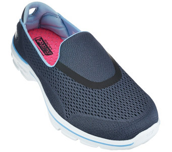 """As Is"" Skechers GOWalk 3 Mesh Slip-on Sneakers - Strike - A281211"