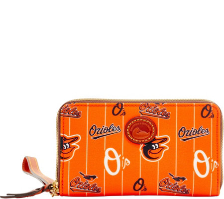 Dooney & Bourke MLB Nylon Orioles Zip Around Phone Wristlet