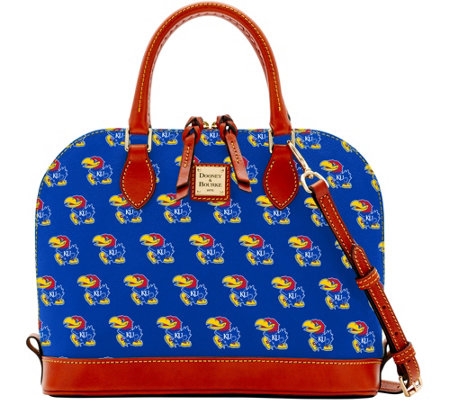 Dooney & Bourke NCAA University of Kansas Zip Zip Satchel