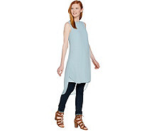 Lisa Rinna Collection Tulip Hem Sleeveless Tunic - A289011