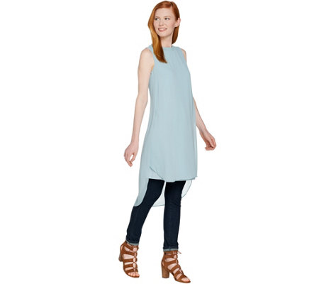 Lisa Rinna Collection Tulip Hem Sleeveless Tunic