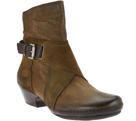 """As Is"" Miz Mooz Leather Boots with Crossover Detail - Elwood"