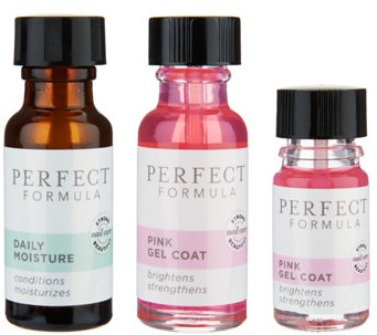 Perfect Formula Strong Nail System w/ Pink Gel Coat - A292211
