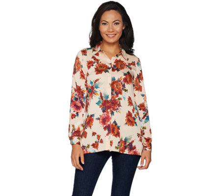 Linea by Louis Dell'Olio Floral Printed Blouse