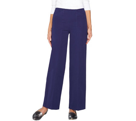 """As Is"" Isaac Mizrahi Live! Regular 24/7 Stretch Pull-On Wide Leg Pants"