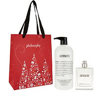 philosophy 32 oz amen shower gel & 4 oz EDT duo with gift bag - A299011