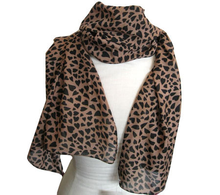 bellissima small design mocha scarf qvc
