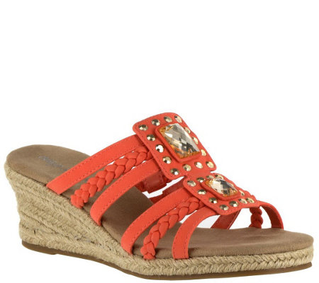 Easy Street Wedge Sandals - Bazinga