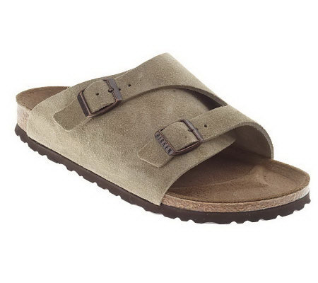 Birkenstock Suede Double Wide Band Sandals
