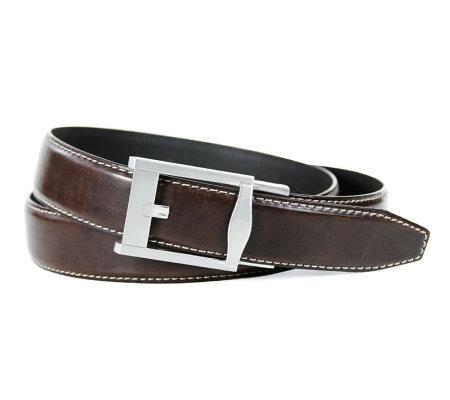 dockers fit belt brown qvc