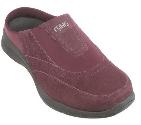 Ryka Suede & Neoprene Slip-on Comfort Clogs