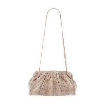 Hobo Pleated Leather Angela 2 in 1 Clutch & Shoulder Bag