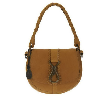 """As Is"" Muxo by Camila Alves Leather Small Round Hobo"