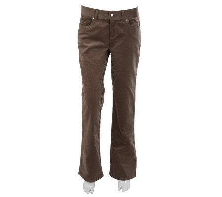 Women with Control Petite Corduroy Boot Cut Pants
