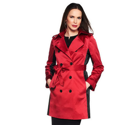 Joan Rivers Illusion Trench Coat