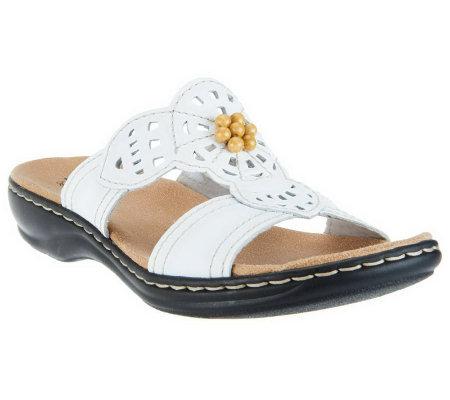 Clarks Leather Slides w/ Beading - Leisa