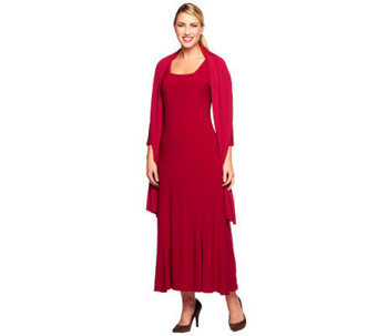 Attitudes by Renee Square Neck Maxi Dress with Shawl - A238312