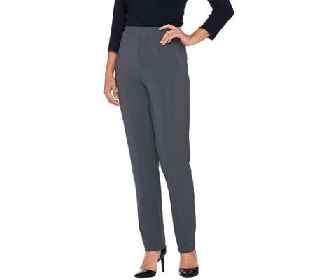 """As Is"" Susan Graver Essentials Lustra Knit Petite Pants"