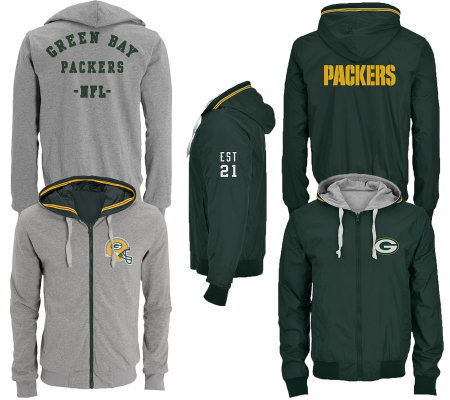 NFL Green Bay Packers Men's Big & Tall Reversible Jacket — QVC.com