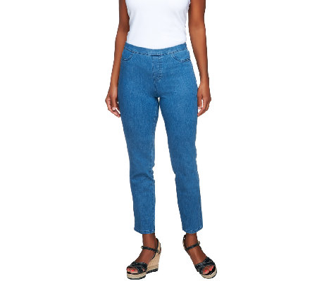 Isaac Mizrahi Live! Regular 365 Stretch Denim Ankle Jeans
